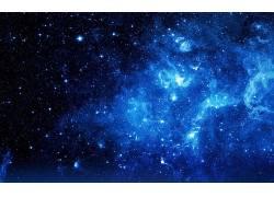 抽象,数字艺术,空间,明星,蓝色,星系,太空艺术583145
