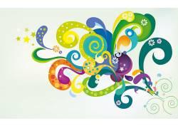华美,简单的背景,明星,抽象,形状,艺术品57619