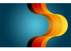 华美,线,蓝色背景,数字艺术,抽象,形状27202