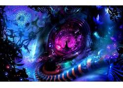 抽象,形状,数字艺术,科幻小说61823