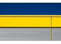华美,黄色,蓝色,建筑,抽象,3D摘要,线666748
