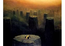 Zdzis?awBeksi��ski,黑暗,抽象,艺术品,爬行144819图片