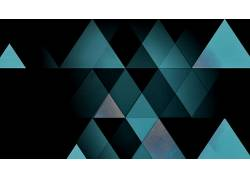 抽象,三角形,数字艺术163616