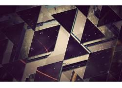 抽象,三角形,数字艺术87811
