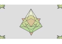 三角形,几何,极简主义,抽象,水晶354874