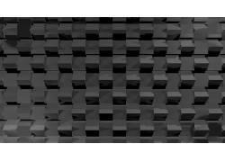 单色,数字艺术,抽象,立方体,3D,极简主义,模式486745