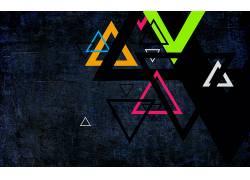 三角形,华美,抽象300262