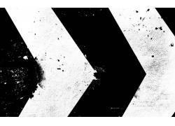 抽象,单色,模式,油漆飞溅,数字艺术,箭头(设计),艺术品,垃圾,黑
