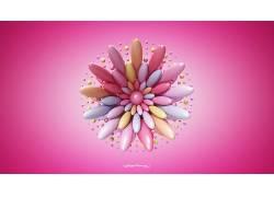 抽象,3D,Lacza,粉色的背景529219