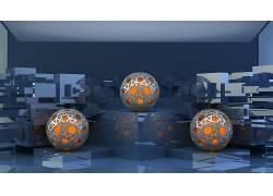 抽象,反射,领域,橙子112533