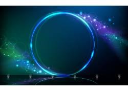 圈,泛着,抽象,蓝色397067