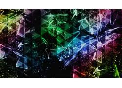 抽象,华美,三角形,破灭,碎玻璃144250