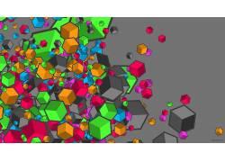 抽象,几何,立方体,华美450416