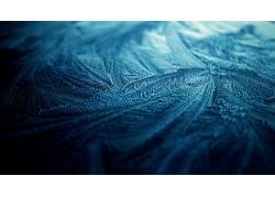冰,霜,简单的背景,性质,宏,蓝色,质地,抽象5370