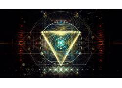 抽象,数字艺术,三角形491953