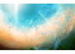 抽象,天空,空间,数字艺术,太空艺术64649