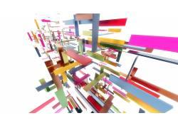 几何,白色,华美,抽象,白色背景,数字艺术285