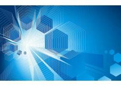 几何,简单的背景,蓝色背景,抽象,数字艺术,艺术品,六边形176884