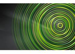 抽象,数字艺术,几何,圈,简单的背景,绿色,艺术品,Xbox 360165971