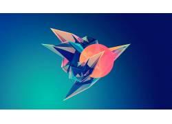 几何,艺术品,数字艺术,抽象,面,梯度,贾斯汀马勒,水晶3325