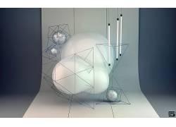 低聚,抽象,数字艺术50895