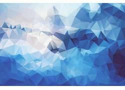 低聚,抽象,蓝色,数字艺术,艺术品,几何227916
