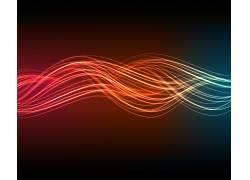 抽象,光谱,数字艺术,线,波形,红,蓝色117572