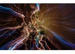 抽象,光迹,数字艺术,形状,线32242