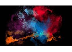 抽象,数字艺术,黑色的背景,半色调图案,华美530808