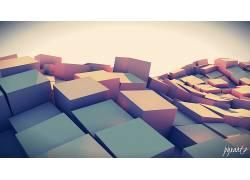 抽象,3D,数字艺术,艺术品,立方体,几何228410