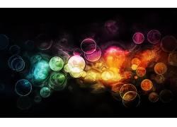 抽象,华美,圈,泡泡,形状,数字艺术,点13071