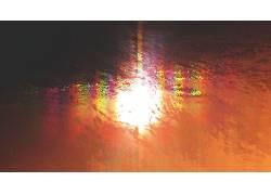 抽象,华美,太阳,反射,壁,波浪,水,海,Brock Lefferts,梯度,模糊38