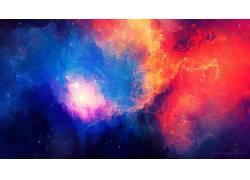 抽象,华美,宇宙,空间,星系,明星,星云,TylerCreatesWorlds,太空艺