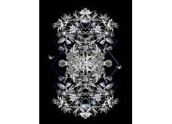 抽象,插图,黑暗,黑色背景,黑色,对称,肖像显示683746