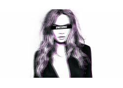 妇女,Photoshop中,抽象,立体图3D,审查431743