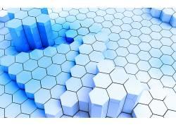 六边形,数字艺术,给予,抽象22822