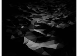 抽象,3D,黑色,闪亮的,黑暗355967