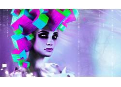 妇女,抽象,数字艺术267902