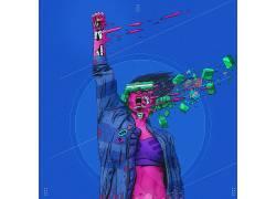 抽象,妇女,骨架,庞克603082