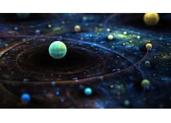 抽象,宇宙,行星,空间,太空艺术,数字艺术24351