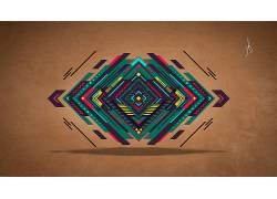 抽象,数字艺术,向量,三角形,华美,平面设计,几何464621