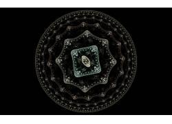 抽象,数字艺术,圈,极简主义,黑色的背景,分形174091