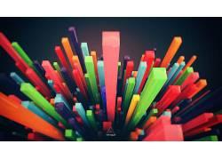 抽象,华美,景深,数字艺术,极简主义,艺术品,Lacza30201