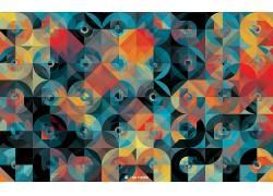 平面设计,模式,抽象,圈,几何164233