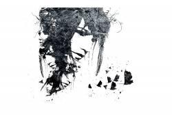 抽象,Alex Cherry,面对,飞蛾,数字艺术,艺术品2446