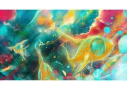 抽象,艺术品,鱼457869图片