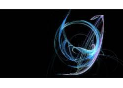 抽象,隆起,数字艺术,黑色的背景565023