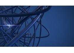 抽象,简单的背景,形状,蓝色背景,给予51766