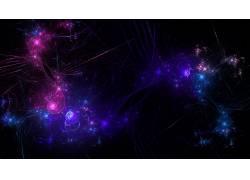 抽象,简单的背景,简单,数字艺术,蓝色,紫色,形状,线18335