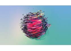抽象,面,贾斯汀马勒,梯度,数字艺术86840